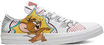 Converse Chuck Taylor All Star Hi Top Tom And Jerry White Multi Red