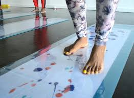 pittsburgh paints austin is bringing one of a kind yoga paint parties to east liberty pittsburgh