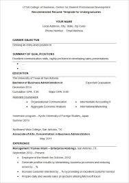 University Student Resume Sample Resume Corner
