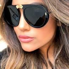 Ladies Black Clear Retro Pilot <b>Sunglasses</b> 2019 New Italy <b>Brand</b> ...