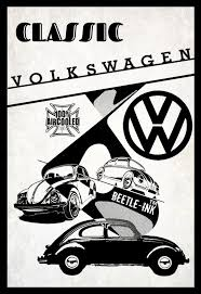 Vw beetle vintage inspired metal sign