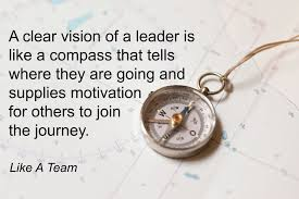 Compass Quotes Classy Clear Vision Of A Leader Is Like A Compass Like A Team