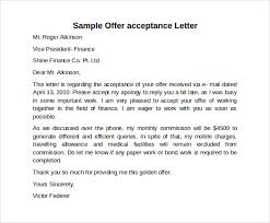 9 Sample Offer Acceptance Letters To Download | Sample Templates