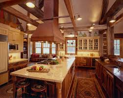 Rectangular Kitchen Decoration Ideas Charming Parquet Flooring And Brown Wooden