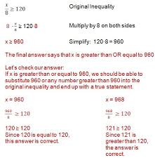 how to solve an inequality solving inequalities