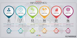 Timeline Website Template Beauteous Infographic Business Horizontal Timeline Process Chart Template