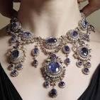 Blue sapphire necklace photo
