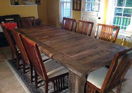 large wooden dining table in cute simple decor reclaimed wood yinyenc