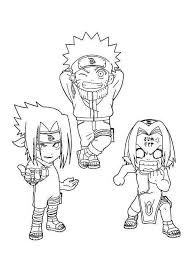 Small Picture Cute Sasuke Naruto And Sakura Coloring Page Free Printable