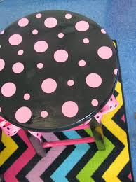 black and neon chevron rug
