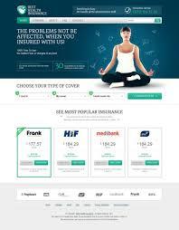 health insurance webdesign from 83 oranges health insurance website design