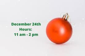 December 24th Modified Hours The Clay Canvas Reno