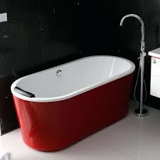 free standing bath tubs bathtubs idea acrylic freestanding bathtub gorgeous glossy red with pictures