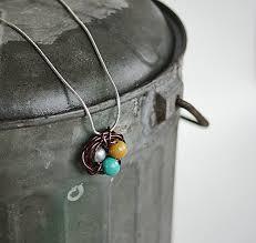 easy wire wrap bird nest pendant diy