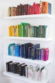 books by color PLUS invisible bookends!