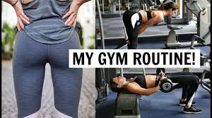 BUTT AND THIGH WORKOUT MY GYM ROUTINE YouTube