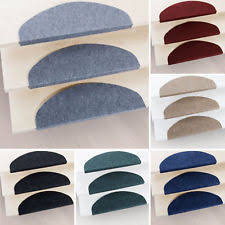 Carpet treads for steps Striped 15 Piece Carpet Stair Tread Mats Step Staircase Floor Mat Protection Cover Pads Ebay Stair Carpet Treads Ebay