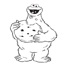 Small Picture Cookie Monster Coloring Page chuckbuttcom