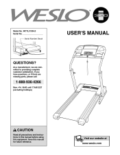weslo 330i treadmill manual canadian english manual
