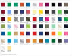 Gildan Color Chart 5000 Gildan G500 Color Chart Qmsdnug Org