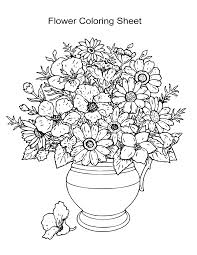 Flowers Coloring Pages Flower Colouring For Toddlers Mandala Pdf Kid