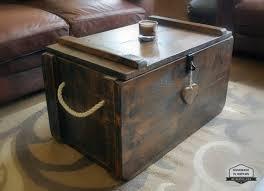 rustic waxed pine wooden blanket box