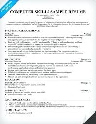 Example Of Computer Skills On Resumes Computer Skills For Resumes Skinalluremedspa Com