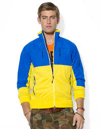 Polo ralph lauren Rlx Colorblocked Track Jacket in Blue for Men | Lyst