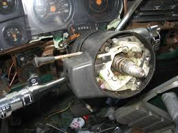 steering column ignition cylinder turn signal repair gm remember the problems i was having the old gmc steering wheel i was missing quite a few parts for the horn assembly it seems like that s a reoccuring