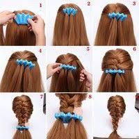 <b>1pcs Fashion Women</b> DIY Sponge <b>Hair</b> Braider Plait Twist Clip <b>Hair</b> ...
