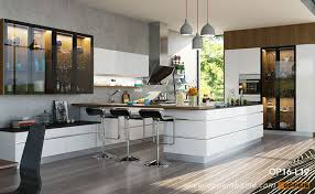 modern high gloss white lacquer kitchen cabinet op16 l19