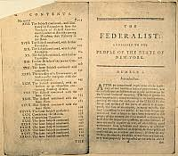 image search federalist papers historical picture 0007080 acirccopy historical picture archivethe federalist 1788 partial table of contents and