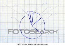 Business Stats Pie Chart Graph Stock Photography