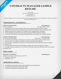 Contracts For Professional Management Resume Samples A Good Resume