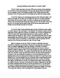 how to write an essay introduction for jaws essay help jaws media essay jaws media essay jaws is a thriller film directed by steven spielberg