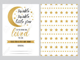 Stars Invitation Template Baby Shower Invitation Template Twinkle Little Star With Sparkle