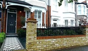 front wall designs for homes decoration front garden brick wall designs house south small home front