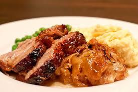 roast pork and sauer german