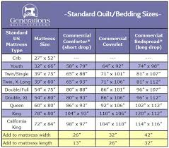 Bedspread Size Chart Standard Quilt Sizes Quit Guessing Will This Quilt Fit My