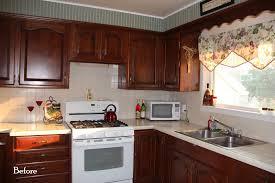 White Appliances In Kitchen Dark Kitchen Cabinets And White Appliances Quicuacom