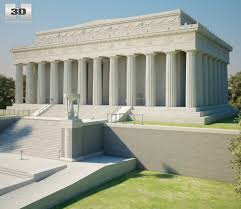 lincoln memorial building clipart. lincoln memorial 3d model building clipart s