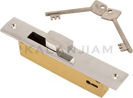 sliding door lock brass ekri