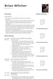 Freelance Copywriter Resume Samples Visualcv Resume Samples Database