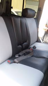1996 toyota land cruiser rear black slate leatherette seat covers side view armrest covers are separate from the seat covers all allow your seats to