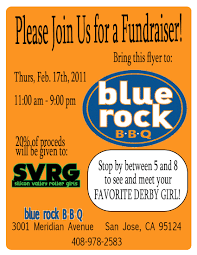 Bbq Fundraiser Flyer Blue Rock Bbq Fundraiser On February 17th Silicon Valley Roller