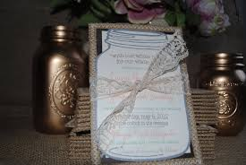 Burlap And Lace Wedding Invitations Burlap Lace Wedding Invitations Tied With Lace Bow