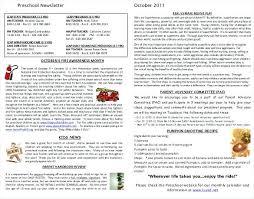 Preschool Newsletter Template Beauteous October Newsletter Template Flybymediaco