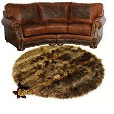 deer skin faux fur rug bear wolf accent throw carpet sheepskin