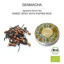 <b>Genmaicha</b>, 45g tin <b>organic Genmaicha</b>, green tea with <b>brown</b> rice ...