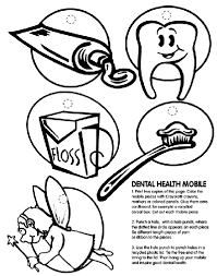 Small Picture Dental Health Mobile Coloring Page crayolacom